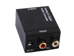 Analog Stereo RCA R/L to Digital Optical Coaxial S/PDIF TOSLINK Audio Converter
