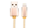 Aluminium Shell USB to Lightning Cord Charging Cable With Nylon Braided For Iphone 5 6 7 iPad iPad